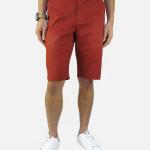 กางเกงขาสั้นชาย ระดับเข่า สีอิฐ
