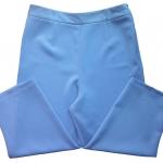 กางเกงห้าส่วนผ้าฮานาโกะ ขาเดฟเอวสูง สีฟ้าคราม Size S M L XL