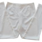 กางเกงขาเดฟเอวสูง ผ้าฮานาโกะ สีขาว Size S M L XL สำเนา