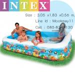 Intex สระน้ำเป่าลม รุ่น In-58485 (Cartoon) หนาพิเศษ