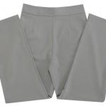 กางเกงขากระบอกเอวสูง ผ้าฮานาโกะ สีเทา Size S M L XL