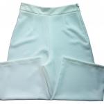 กางเกงห้าส่วนผ้าฮานาโกะ ขาบานเอวสูง สีขาว Size S M L XL