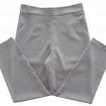 กางเกงขายาว8ส่วนผ้าฮานาโกะ ขาเดฟเอวสูง ซิปซ้าย ไม่มีกระเป๋า สีเทา Size S M L XL