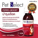 Pet Select FERRO-BOOST วิตามินสุนัข วิตามินบำรุงเลือด ยาบํารุงเลือด สำหรับสุนัขและแมว
