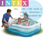 Intex Summer Colour Pool สระน้ำรูปดาว 56495 (Blue)+สูบไฟฟ้า