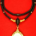 สร้อยกะลาสลับทองคำแท้+หัวขุนไม้พญางิ้วดำ+เม็ดทองคำหลายขนาด
