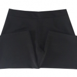 กางเกงห้าส่วนผ้าฮานาโกะ ขาบานเอวสูง สีดำ Size S M L XL