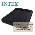 Intex Pillow Classic Queen ขนาด 5 ฟุต สีดำ + สูบไฟฟ้า รุ่น 66769