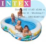 Intex Pool Paradise Lagoon สระน้ำเลขแปด 56490+แถมสูบไฟฟ้า