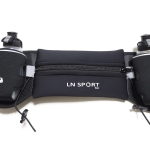 กระเป๋าคาดเอวพร้อมขวดน้ำ 2 ขวด (สีดำ) Hydration Running Belt