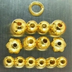 เม็ดทอง+ฝาครอบหัวขุนทอง+ห่วงทองแขวนพระ+เม็ดโอ่งทองคำ