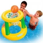 INTEX 58504พรรคฤดูร้อนสระว่ายน้ำบาสเกตบอลพองลอยห่วงน้ำทำให้พอง