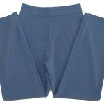 กางเกงขายาวผ้าฮานาโกะ ขากระบอกเอวสูง สีฟ้าคราม Size S M L XL