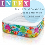 Intex Swim Center Clearview Aquarium Pool 57471 แถมสูบไฟฟ้า