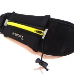 LN Sport กระเป๋าคาดเอวพร้อมช่องใส่ Energy Gel (Running Belt) สีเขียว