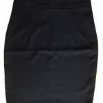 กระโปรงผ้าฮานาโกะ ทรงดินสอ สีดำ Size S M L XL