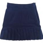กระโปรงปลายจีบ ผ้าฮานาโกะ สีกรม Size S M L XL