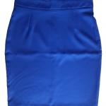 กระโปรงผ้าฮานาโกะ ทรงดินสอ สีน้ำเงิน Size S M L XL