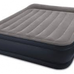 Intex Unisex Queen Deluxe Raised P 64136 Air Bed, Grey/Light Grey 152x203x42