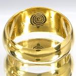 แหวนปลอกมีดหลวงปู่ดู่ วัดสะแก ปี พ.ศ. 2532 เนื้อทองผสม