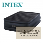 Intex Raised Downy Queen Size ที่นอนเป่าลมควีนไซต์สีดำปั้มลมในตัว 64440