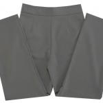 กางเกงขายาวผ้าฮานาโกะ ขากระบอกเอวสูง สีเทา Size S M L XL