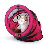 บ้านแมว อุโมงค์แมว สามารถพับแบนได้ง่ายต่อการพกพา (สีแดง)