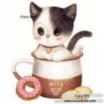 แมวเหมียวในแก้วกาแฟ