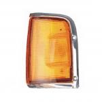 03-332 R/L Amber, Chrome Side Direction Indicator Lamp, Amber Lens, Chrome Housing