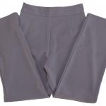 กางเกงขายาวผ้าฮานาโกะ ขากระบอกเอวสูง สีม่วงพาสเทล Size S M L XL