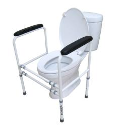 ราวจับพยุงตัวกันลื่นห้องน้ำ ช่วยลุก แบบโครง (ขนาด L) โถสุขภัณฑ์ นั่งราบ เหมาะกับผู้สุงอายุ ผู้ป่วย