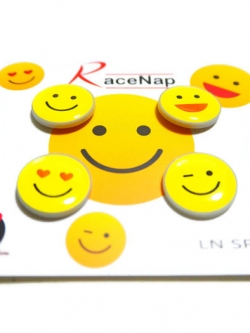 LN Sport ตัวติดเบอร์วิ่ง Runnap (BIB Race Number Holder) ลาย emoji 4 characters