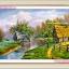 อุปกรณ์งานฝีมือ DIY ครอสติสคริสตัลรูปบ้านไร่ชายคลอง ติดเต็มภาพ thumbnail 1