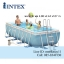 Intex Prism Frame Pool สระน้ำรุ่นใหม่!! ขนาด 16 ฟุต สีฟ้า + เครื่องกรองระบบไส้กรอง รุ่น 28318 thumbnail 1