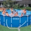 Intex Metal Frame pool 15 ฟุตสูงพิเศษ 28236 + เครื่องกรองระบบไส้กรอง thumbnail 2