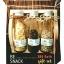 Be Snack Gift Set (Black&White Peppers+Durian Chips) พริกไทยขาว 50 g.+พริกไทยดำ 50 g.+ทุเรียนทอดไซส์ S 10 g. พร้อมถาดไม้ยางอย่างดีโดนน้ำได้ thumbnail 1