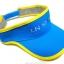 Visor Cap หมวกเปิดหัว สีฟ้าขลิบเหลือง thumbnail 4