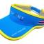 Visor Cap หมวกเปิดหัว สีฟ้าขลิบเหลือง thumbnail 3