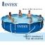 Intex Metal Frame pool 12 ฟุต 28212 + เครื่องกรองระบบไส้กรอง thumbnail 1