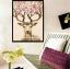 ครอสติสคริสตัลรูปวาดกวางเขาประดับดอกไม้แสนสวย ภาพงานศิลปะแสนสวย thumbnail 2
