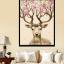 ครอสติสคริสตัลรูปวาดกวางเขาประดับดอกไม้แสนสวย ภาพงานศิลปะแสนสวย thumbnail 1