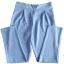 กางเกงขาเดฟเอวสูงจีบทวิตหน้า ผ้าฮานาโกะ สีฟ้า Size S M L XL thumbnail 1