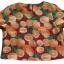 กางเกงขาสั้นและเสื้อผ้ามิลินพิมพ์ลายส้ม กระเป๋าขวา ซิปซ้าย เอวยางยืดหลัง thumbnail 2