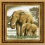 อุปกรณ์งานฝีมือ DIY ครอสติสคริสตัลรูปช้าง คริสตัลติดเต็มแผ่น thumbnail 1