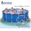 Intex Metal Frame pool 15 ฟุตสูงพิเศษ 28236 + เครื่องกรองระบบไส้กรอง thumbnail 1