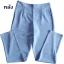 กางเกงขาเดฟเอวสูงจีบทวิตหน้า ผ้าฮานาโกะ สีฟ้า Size S M L XL thumbnail 2