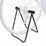 ขาตั้งจักรยานแบบจิกดุมล้อ แท่นวางจักรยานแบบยึดดุมล้อ ที่วางจักรยานตั้งโชว์- สีดำ ถนอมยางรถ