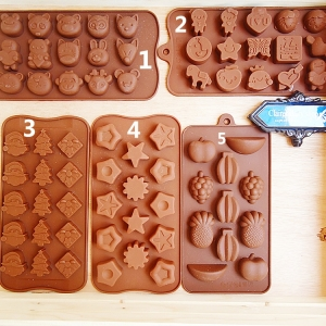 พิมพ์ซ็อกโกแลตซิลิโคนรูปต่างๆ (เหลือลายหมายเลข1เท่านั้นค่ะ)