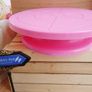 แป้นหมุนแต่งหน้าเค้กสีชมพู(สินค้ามีจำนวนจำกัด)