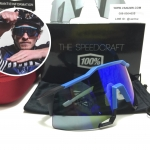 แว่นตาปั่นจักรยาน 100% Speedcraft Cyan <Blue mirror short lens>
